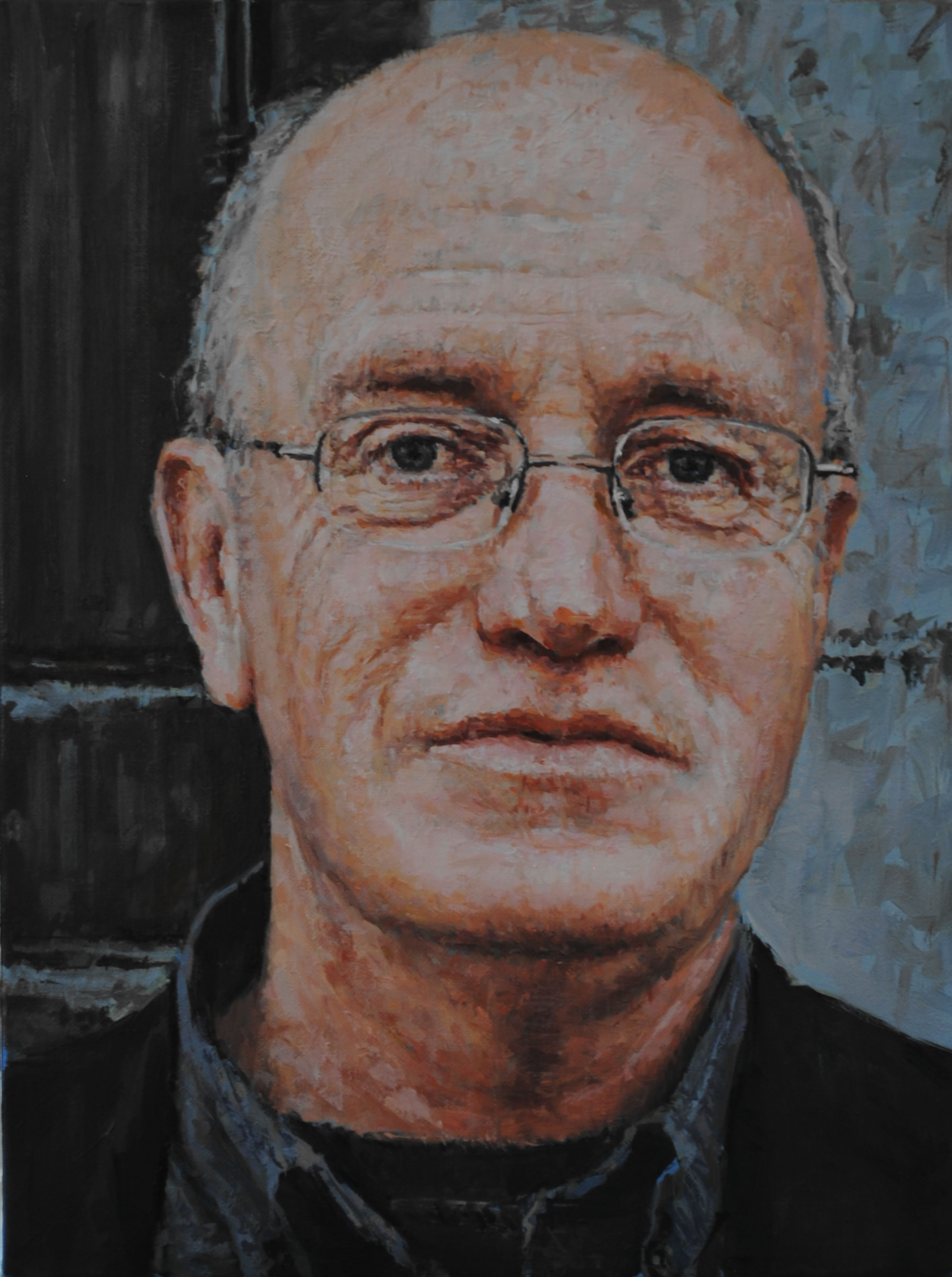 iain sinclair by luca del baldo. Part of the Visonary Academy of ocular mentality